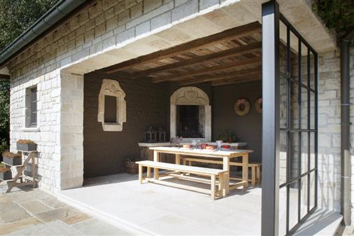 Bourgondisch kruis rustieke bouwmaterialen realisaties poolhouse